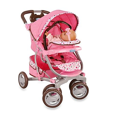 graco® doll 3 in 1 travel system by tollytots® pink