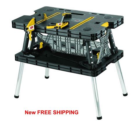 benchmark portable work bench work table bench portable folding station wood cls job