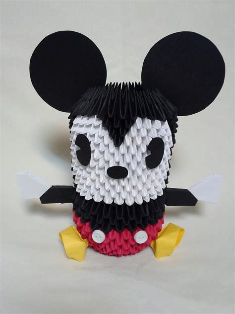 Mickey Mouse Origami - mickey mouse 3 d origami by pandanpandan on deviantart
