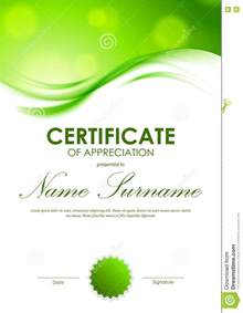 certificate of appreciation templates free certificate appreciation template pdf border green