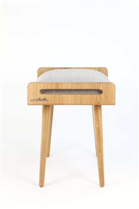 Made Ottoman Stool Seat Stool Ottoman Bench Made Of Solid Oak