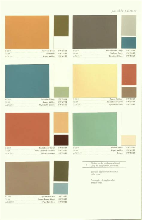 Mid Century Color Schemes | paradise palms some mid century modern paint colors