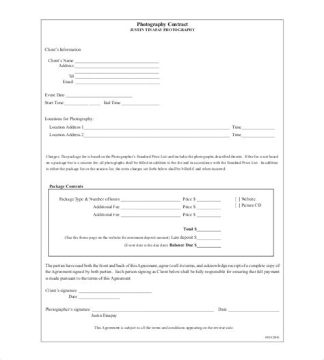 event photography contract template contract template 24 free word excel pdf documents