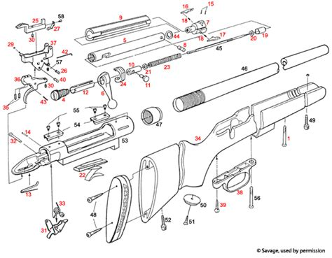 savage model 110 parts diagram savage model 110 schematic savage get free image about