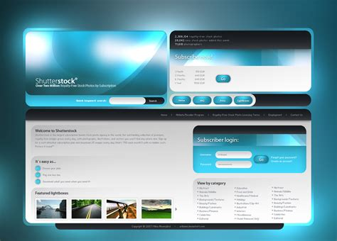 design site shutterstock site design by uribaani on deviantart