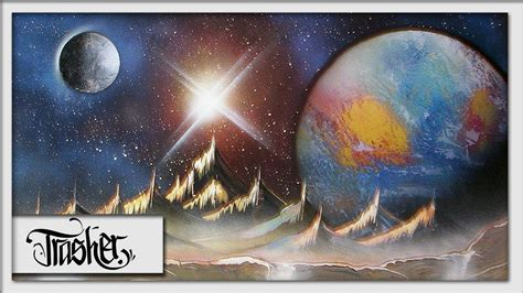 spray paint earth spray paint earth and moon by trasher