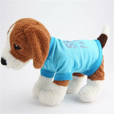 puppy clothes for cheap summer autumn cheap small clothes fashion pet t shirts cotton teddy puppy vest