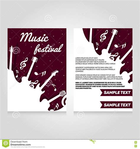 Festival Brochure Template by Festival Brochure Flier Design Template Stock