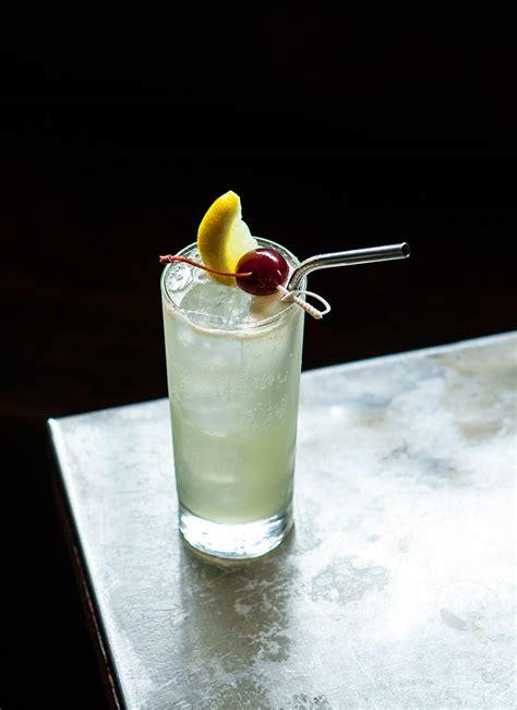punch salted plum vodka collins cocktail recipe