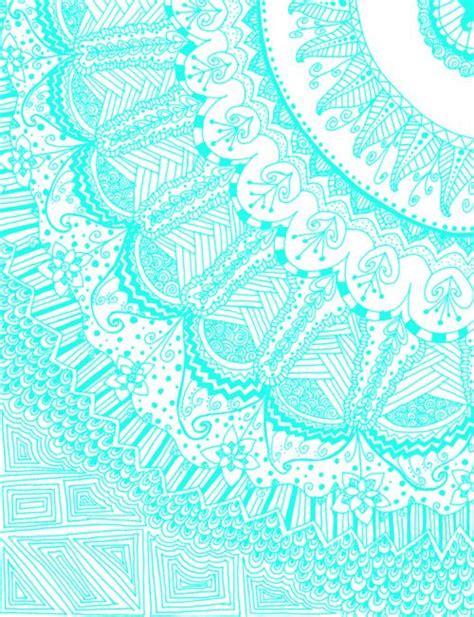 pattern aqua blue fuckyeahpsychedelics doodle madness aqua by kayla