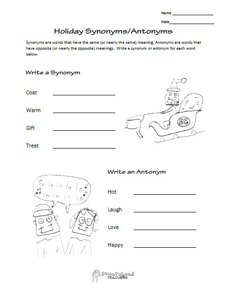 pattern of behaviour synonym holiday synonyms and antonyms worksheet squarehead teachers