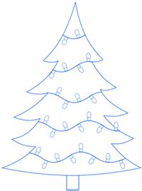 how to draw christmas tree tree step by step drawing lesson