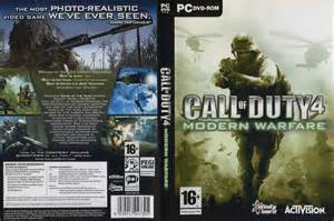 call of duty 4 modern warfare dvd cover 2007 pc