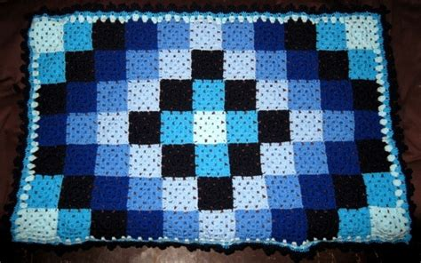 Patchwork Square Afghan - pretty patchwork lay out crochet afghan throw