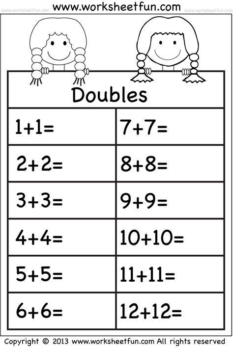 addition doubles places to visit math