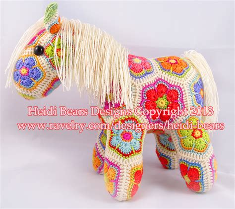Free Pattern Heidi Bears | heidi bears fatty lumpkin the brave african flower pony