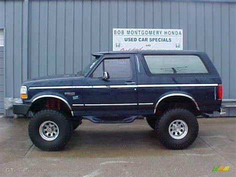 blue bronco car 1995 medium royale blue pearl ford bronco xlt 4x4
