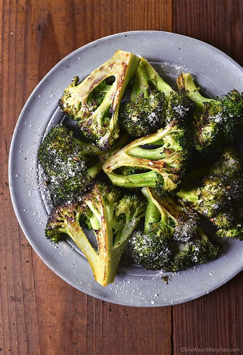 recipe garlicky roasted broccoli quick side dish roasted broccoli recipe she wears many hats