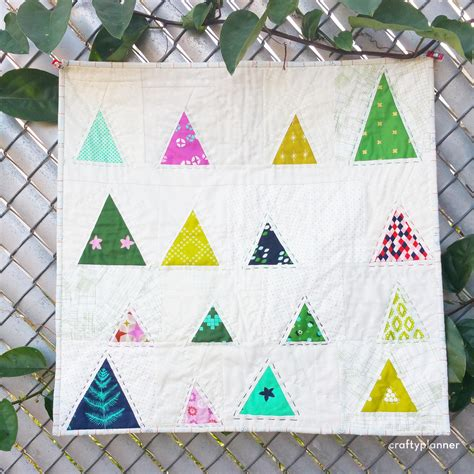christmas tree mini quilt crafty planner