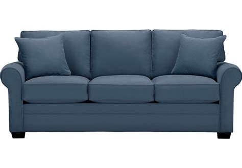 couch or sofa cindy crawford home bellingham indigo sofa sofas blue