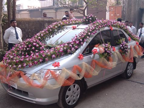 latest fashions updated marriage decoration car