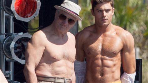Zac Efron Also Search For Zac Efron And Robert De Niro Go Shirtless Flex Their Muscles Entertainment Tonight