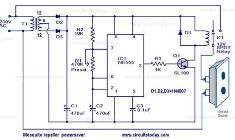 power saver device circuit diagram gt circuits gt mosquito repeller power saver circuit and