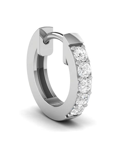 ciemme 92 5 sterling silver white gold plated hoop nose