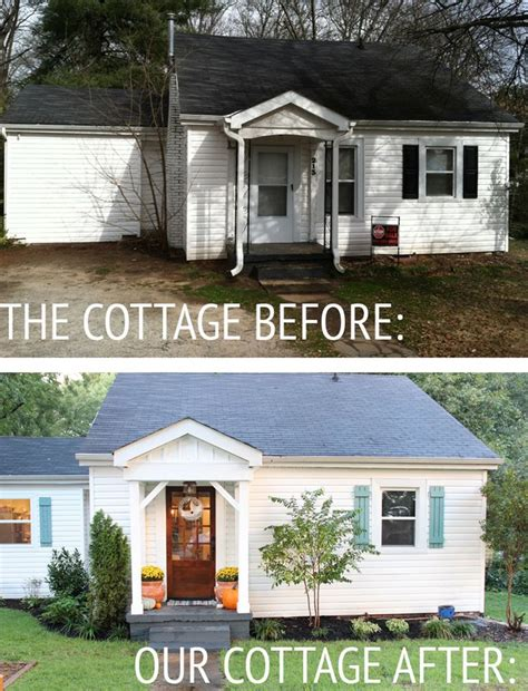 Our Cottage Exterior Before After The White Front