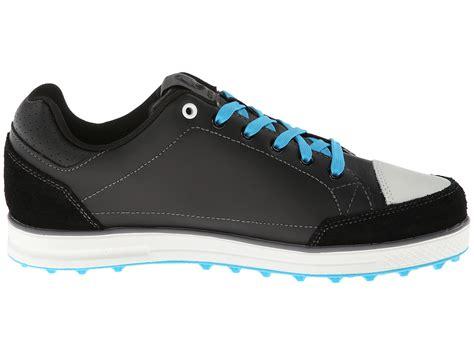 croc golf shoes crocs karlson golf shoe m black electric blue shipped