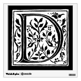 Wall Sticker Kode 042 3 letter d wall decals wall stickers zazzle