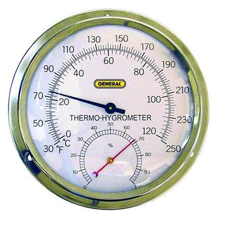 Hygrometer Thermometer Analog Big Model general tools indoor analog thermo hygrometer with 5 in and stainless steel a600fc