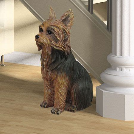 yorkie statue terrier statue 11h 39 00 this terrier statue stands 11