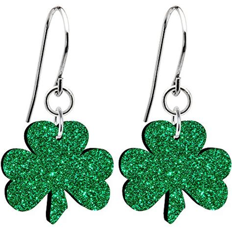 Anting Glow In The Clover White Stud Earring earrings shopswell