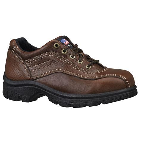 womens work shoes american heritage steel toe brown