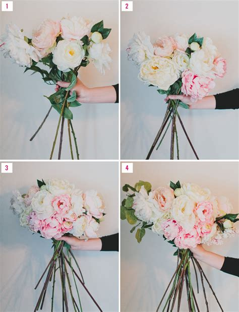 How To Make Handmade Flower Bouquet - diy silk flower bouquet with afloral green wedding shoes