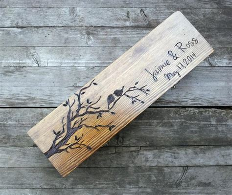 Wedding Ceremony Wine Box by Custom Wedding Wine Box Birds Wine Box Fight