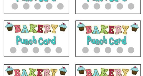 printable punch cards  dramatic play