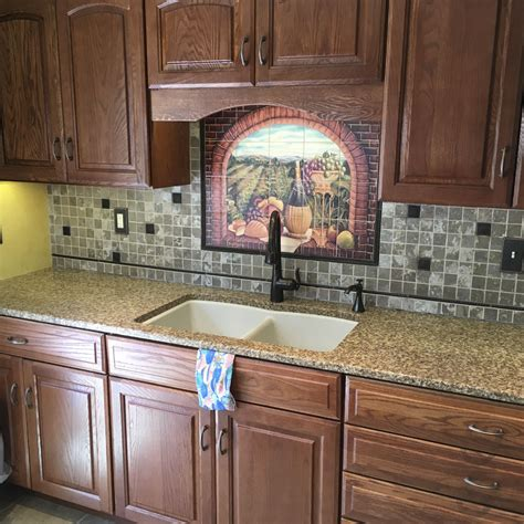 tile backsplash design home design decorating and tuscan tile backsplash ideas medallion house design and