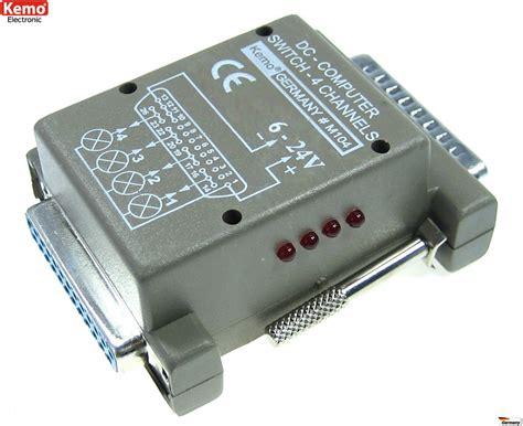 pc con porta parallela interfaccia uscita 4 canali porta parallela lpt pc 6 24v