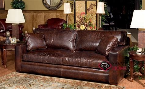 houston leather sofa by savvy is fully customizable by you