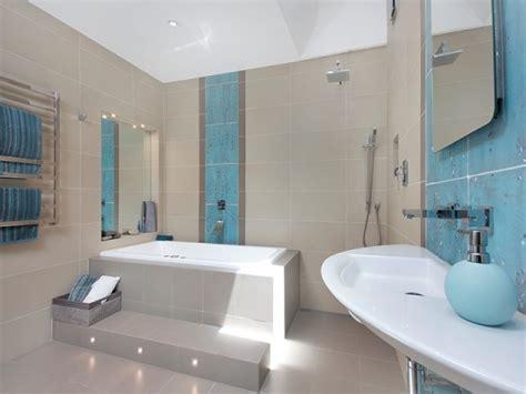 Bathroom Uses by Modern Bathroom Design With Recessed Bath Using Tiles
