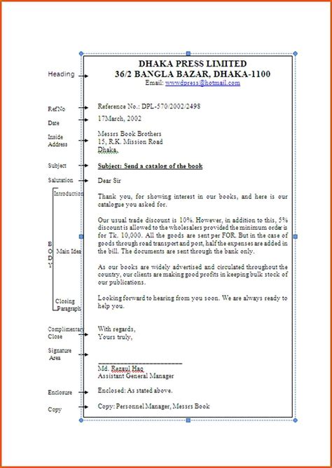 Business Letter With Exles business letter sle and parts 28 images 8 parts of
