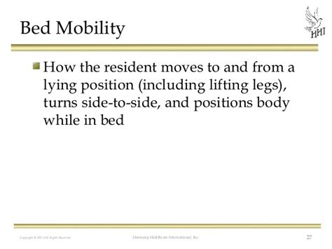bed mobility documenting the care you provide adl accuracy