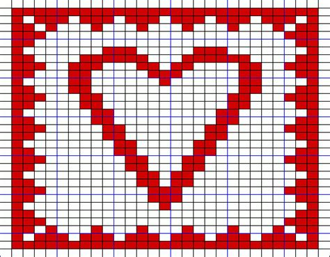 heart knitting pattern chart free knitting patterns heart double knit hot pad