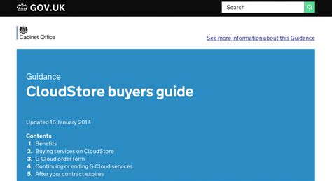 Cloud Store buyers guide digital marketplace
