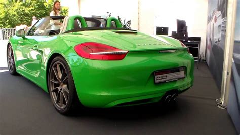 green porsche convertible green porsche boxster s hd
