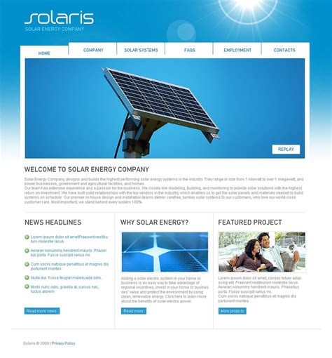Solar Energy Website Template 22285 Solar Website Templates