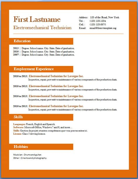 downloadable cv templates cv templates free resume exles cv templates
