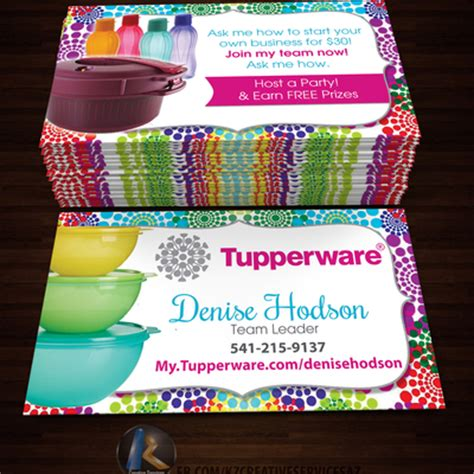 free tupperware business cards template tupperware business cards style 5 183 kz creative services